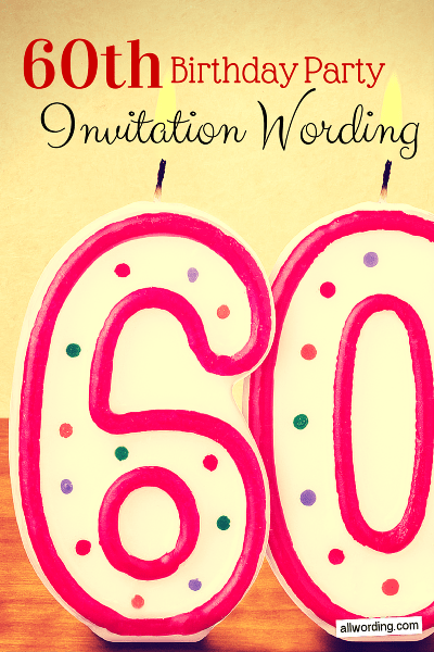 60Th Invitation Ideas with amazing invitations layout