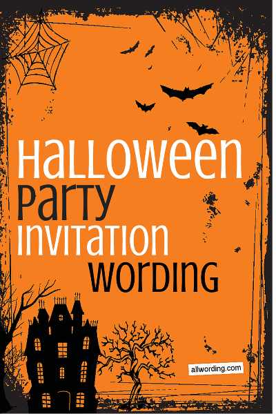 Halloween Party Invitation Wording AllWordingcom