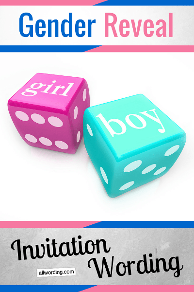 Gender Reveal Invitation Wording AllWording – Baby Gender Announcement Wording