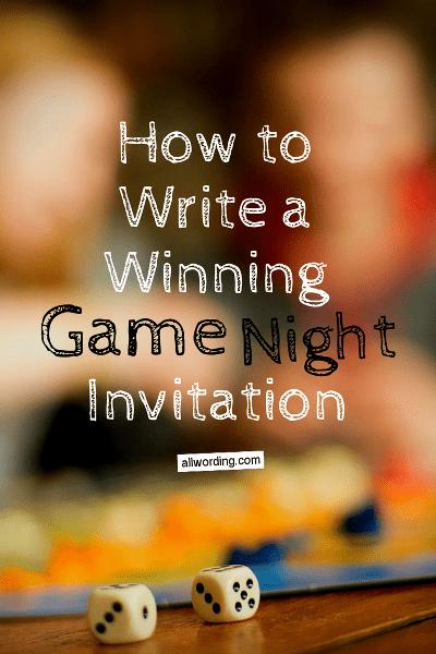 Game night invitation wording allwording wording ideas for game night invites stopboris Choice Image