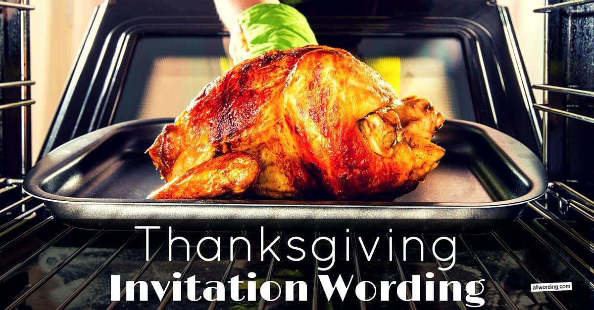 thanksgiving dinner invitation wording allwording com