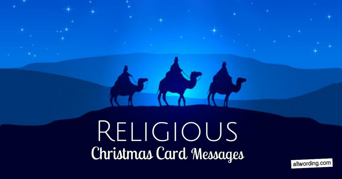 25 religious christmas card messages allwordingcom - Religious Christmas Cards