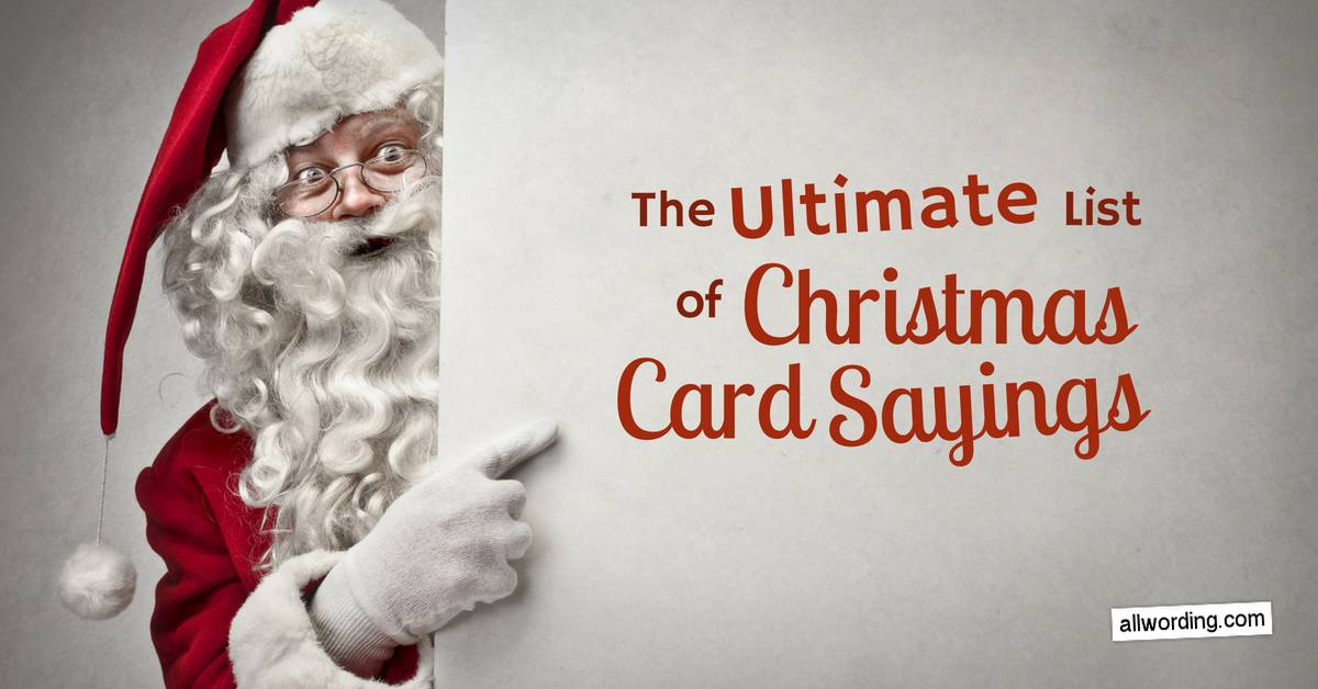 The Ultimate List of Christmas Card Sayings » AllWording.com
