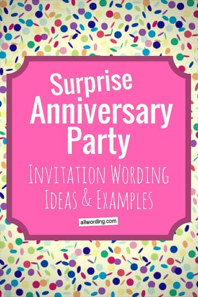 Surprise anniversary party invitation wording allwording surprise anniversary party invitation wording ideas and examples stopboris