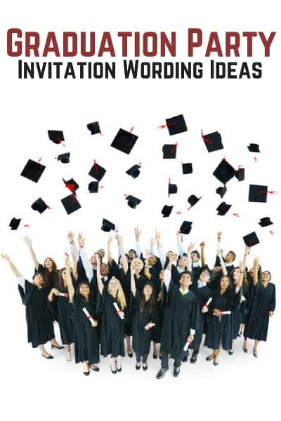 graduation party invitation wording allwording com
