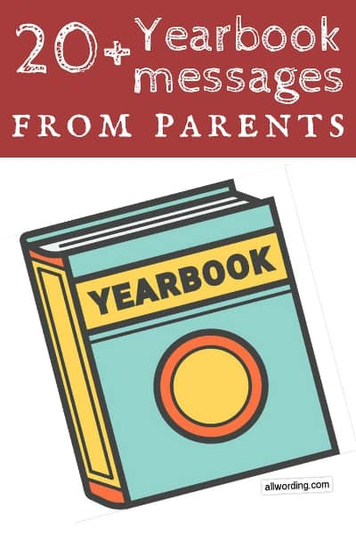 Yearbook Messages From Parents