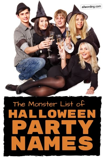 Halloween party name ideas
