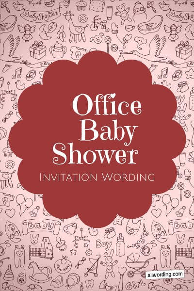 Office baby shower invitation wording allwording filmwisefo