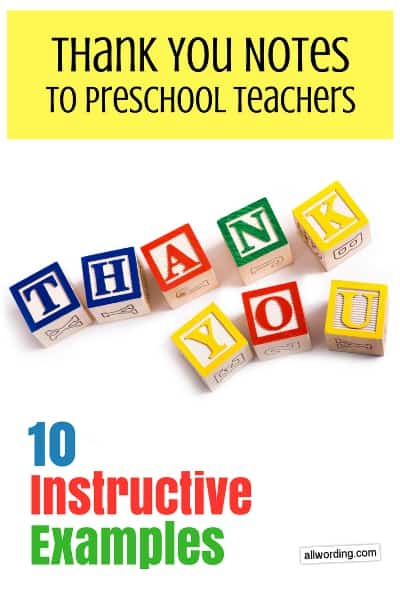 Thank You Notes to Daycare Teachers: 10 Instructive Examples
