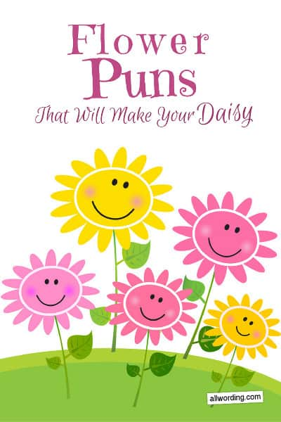 Punny riddles and wordplay about flowers