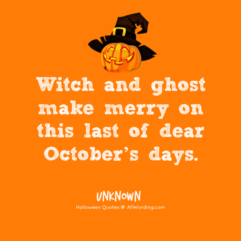 Witch and ghost make merry on this last of dear October's days.