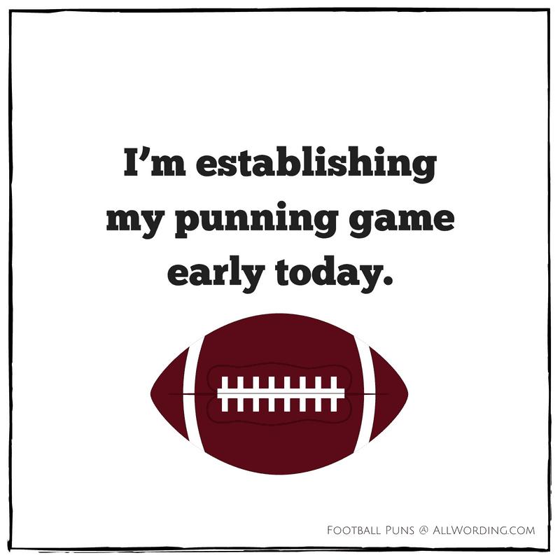 I'm establishing my punning game early today.