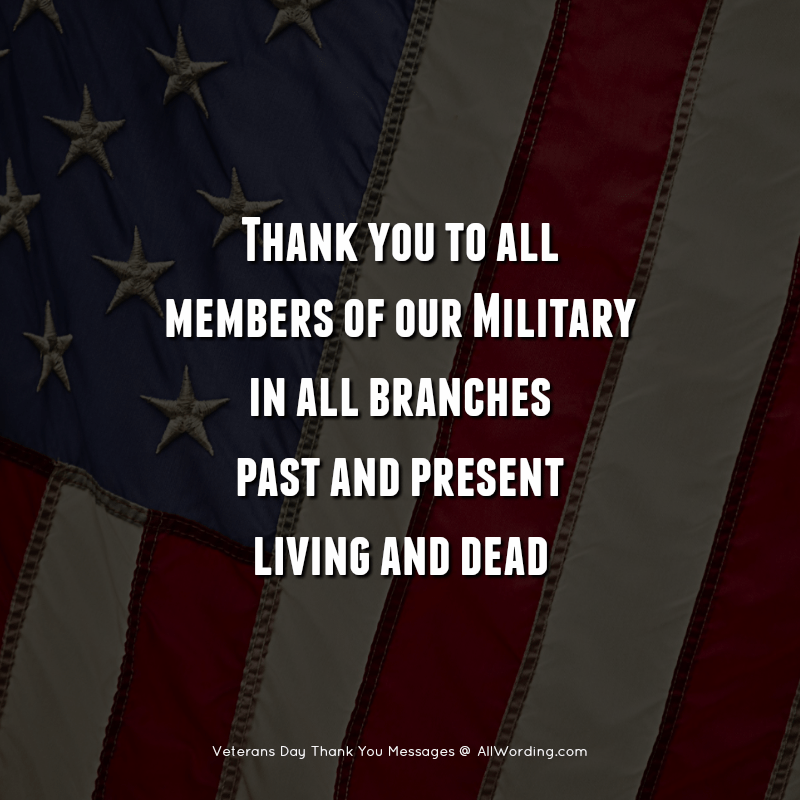 An Inspiring List of Veterans Day Thank You Messages ...