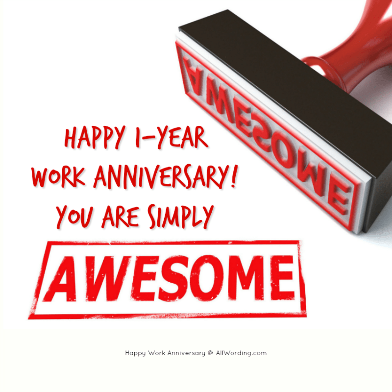 Happy 1-year work anniversary! You are simply awesome!