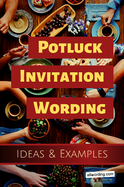 What to put on a potluck invitation, whether it's for a summer barbecue or a holiday gathering