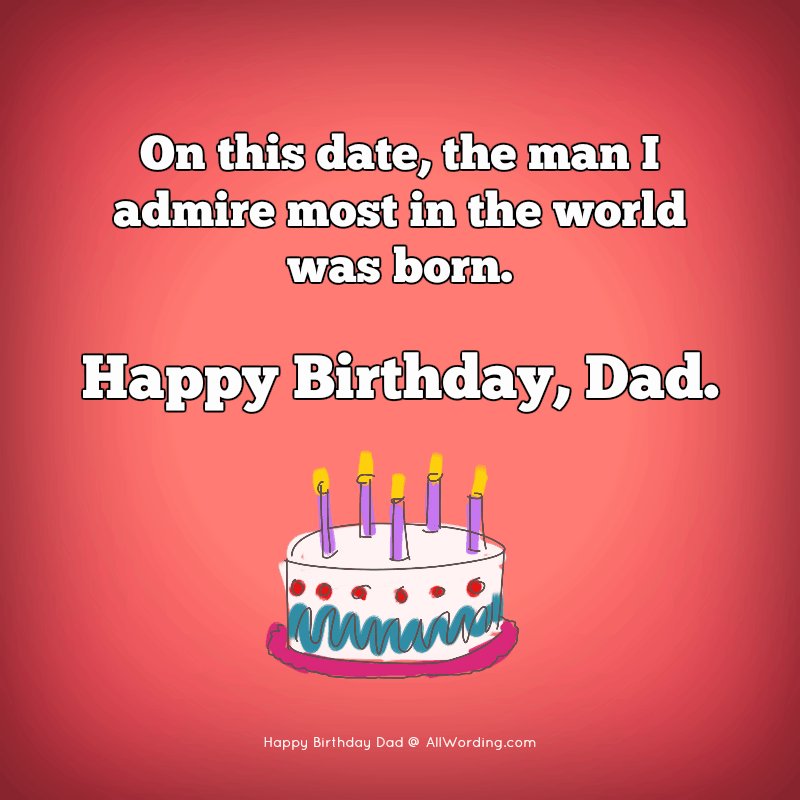 On this date, the man I admire most in the world was born. Happy Birthday, Dad.