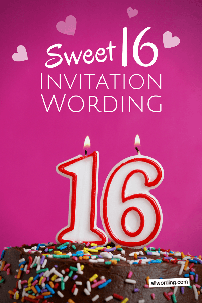 Sweet 16 Invitation Wording Useful Tips And Fun Examples