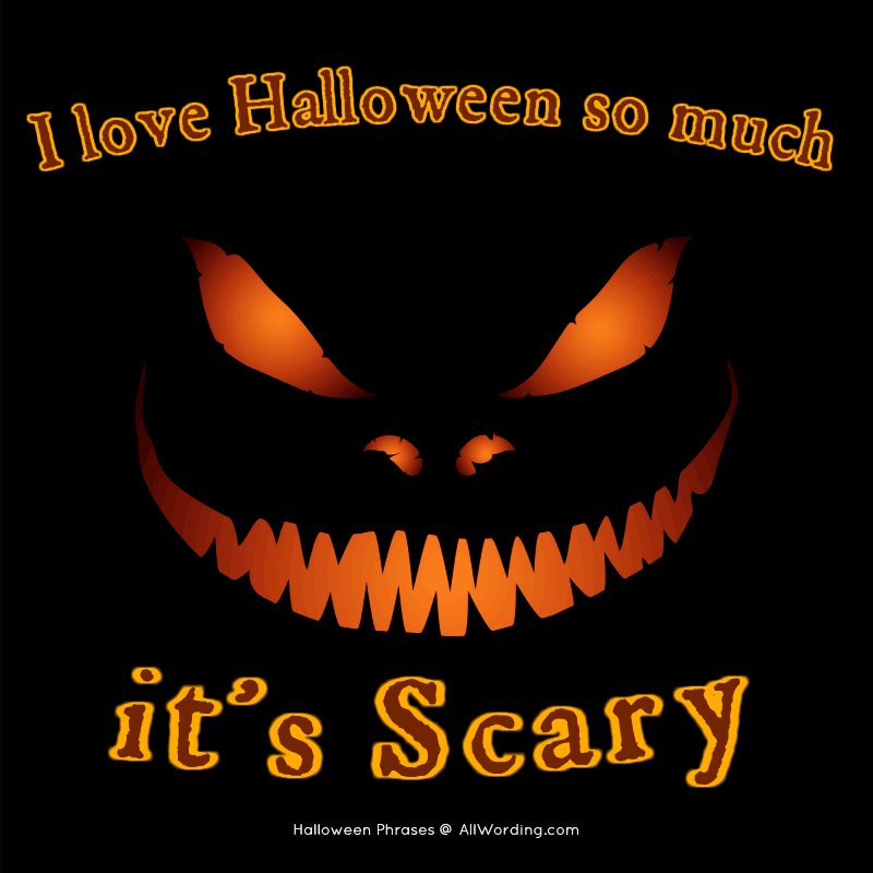 I Love Halloween So Much, It's Scary