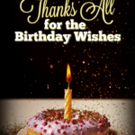 Full sized Pinterest image for article on thanking people for birthday wishes