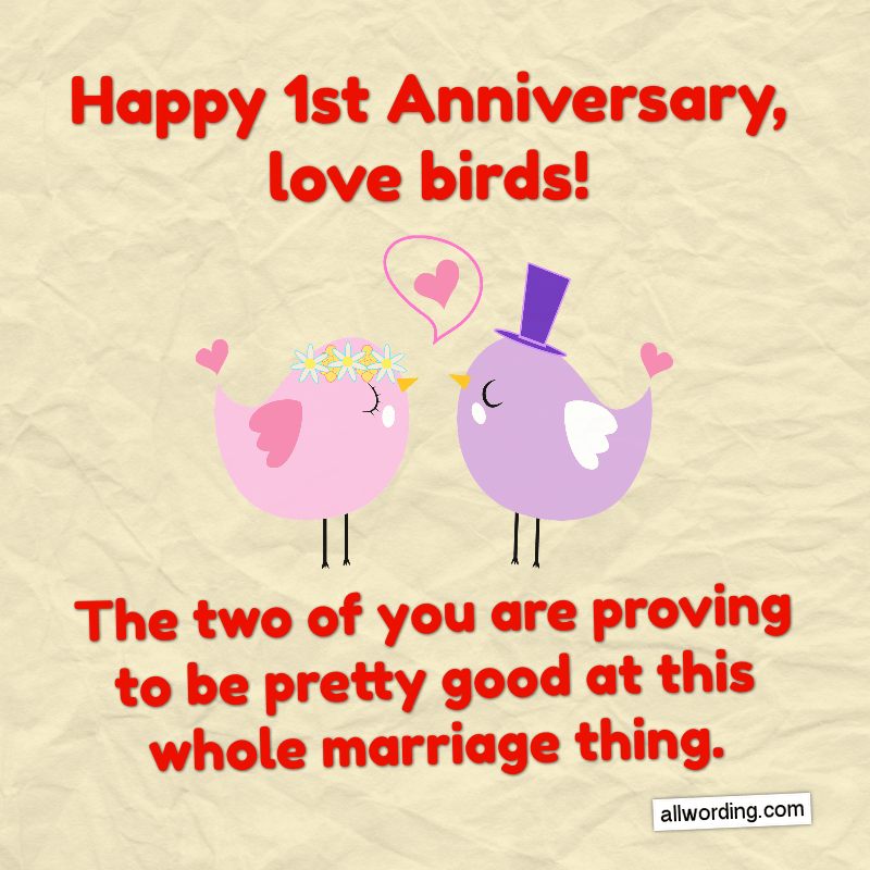 First Anniversary Wishes For a Husband, Wife, or Couple ...