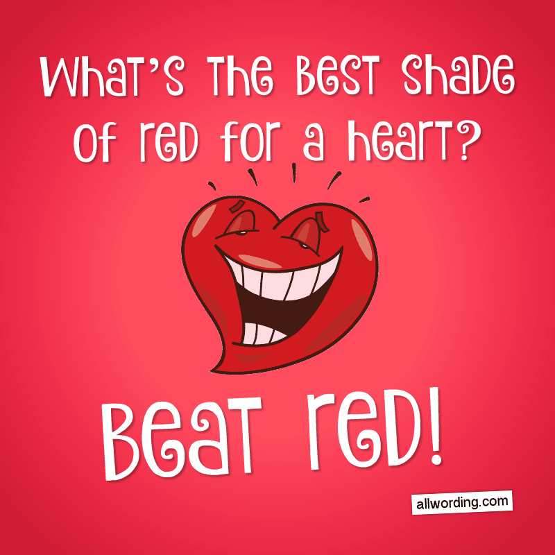 What's the best shade of red for a heart? Beat red!