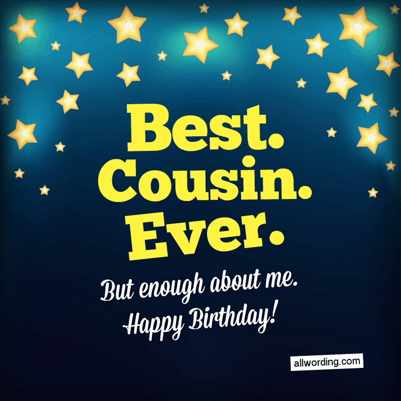 Birthday Wishes For A Guy Cousin
